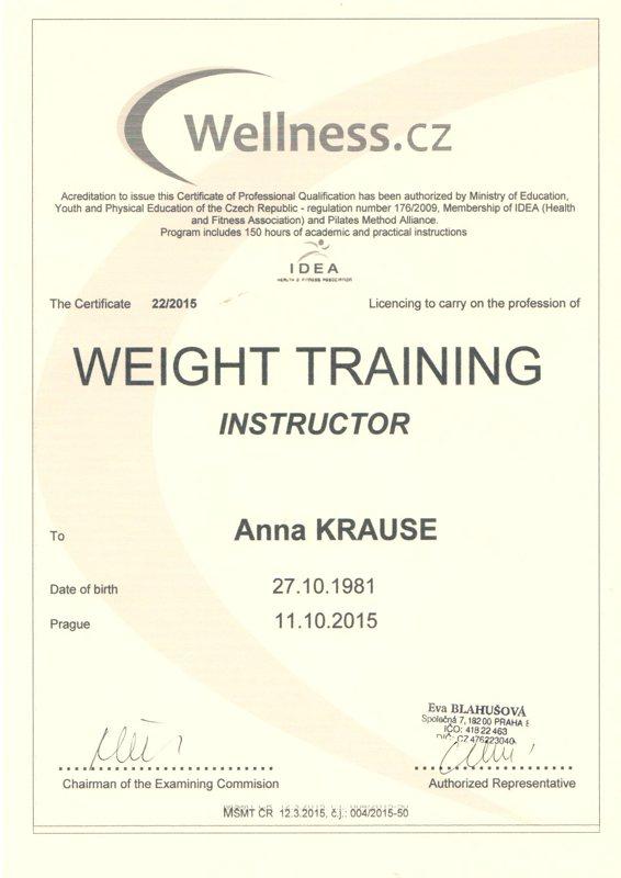Weight trainning instructor